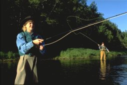 Salmon Fishing on Miramichi - Ponds Chalet - Photo Credit: Tourism New Brunswick
